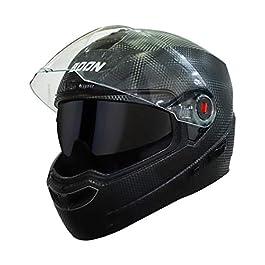 Steelbird SBA-1 7Wings Boon Double Visor Full Face Helmet, Inner Smoke Sun Shield and Outer Clear Visor (Medium 580 MM…