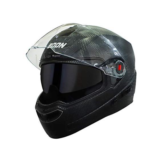 Steelbird SBA-1 7Wings Boon Double Visor Full Face Helmet, Inner Smoke Sun Shield and Outer Clear Visor (Medium 580 MM