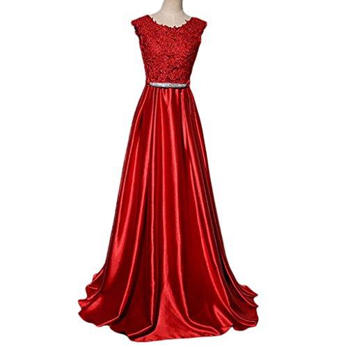 Kleid Rot Drasawee A Rot Linie Damen qwFTtf
