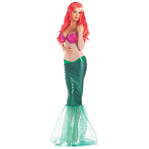 Ariel Frauen Kostüm Die kleine Meerjungfrau Disney erwachsenen reizvollen Seeprinzessin Cosplay