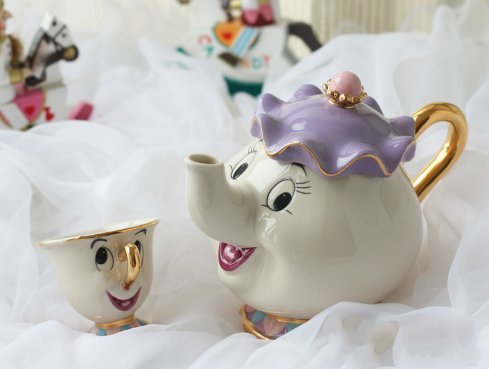 NEW Beauty and The Beast Mrs. Potts Chip Tea Pot & Cup set Teapot Mug ( Pot & Cup)