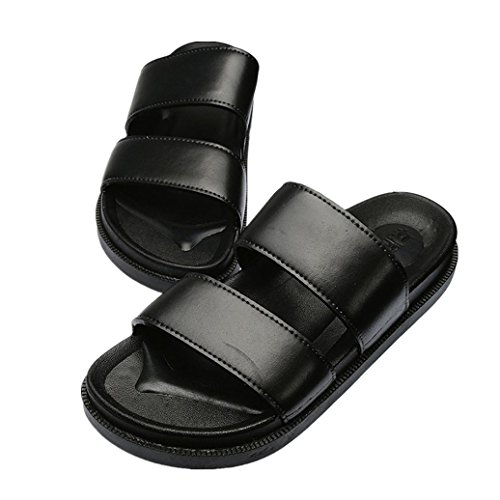 Flip Fashion men Indoor TM Sandals Beach Couple Women Men Summer Outdoor Elevin Flops Sandals Black zwx0W