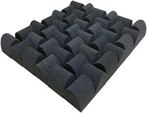 ウレタン吸音材ZS かまぼこ形トール デザインパーツ 厚さ75mm サイズ 75mm×75mm 100個入 約 0.5平米分