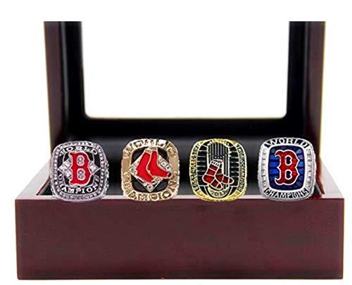 Akay&Tina Red Sox 4 Years World Series Baseball Championship Rings Set 2004 2007 2013 2018(Size 11)