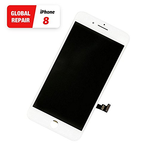 White iPhone 8 LCD Touch Screen Replacement From Global Repair Digitizer Screen With Free Gift Repair Tools Kit