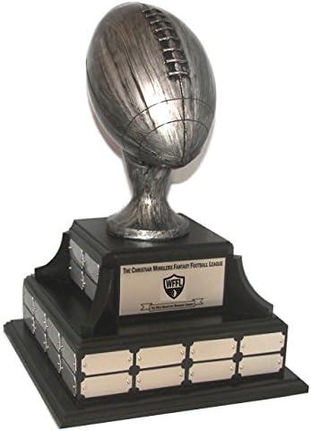 44年アンティークシルバー仕上げ樹脂Fantasy Football Trophy p5502