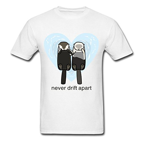 LAYAN Men's Sea Otters In Love Costume t shirt XXX-Large (Otter Costume)