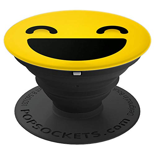Funny Smiley Wink Yellow Happy Person - PopSockets Grip and Stand for Phones and Tablets -
