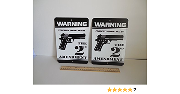THIS HOUSE is PROTECTED Mini Gun Storage Sign