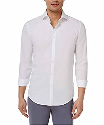 Calvin Klein Men's Slim-Fit Dobby Cotton Shirt