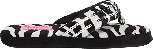 Womens Zebra Slippers Sequin Flip amp;F Western Flop M wnUq0ERCK