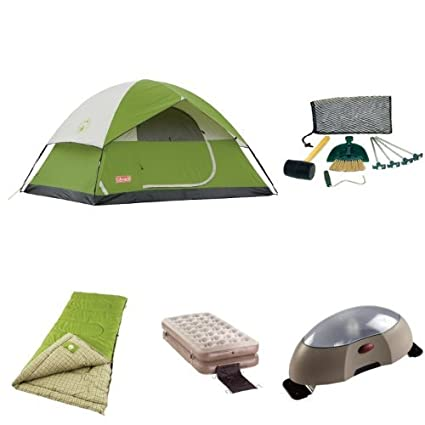 Coleman Sundome 4-Person Tent Starter Bundle  sc 1 st  Amazon.com : tent starter packages - memphite.com