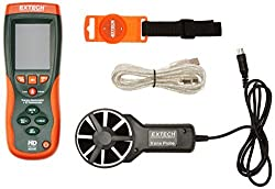 Extech HD300 CFM/CMM Thermo-Anemometer with Built-in Infrared Thermometer by Extech