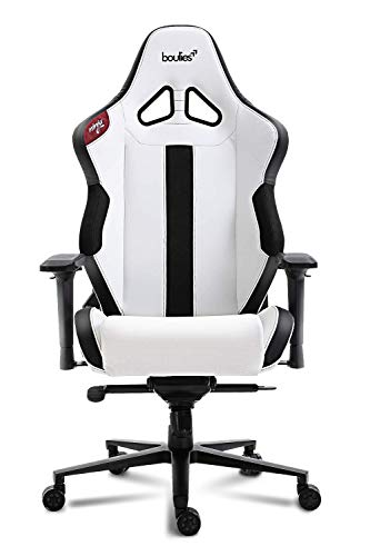 boulies Ninja Pro Gaming Chair Office Chair Multi-Function Racing Chair Video Game Chair Adjustable Desk Chair with 4D Armrests - Black & White boulies