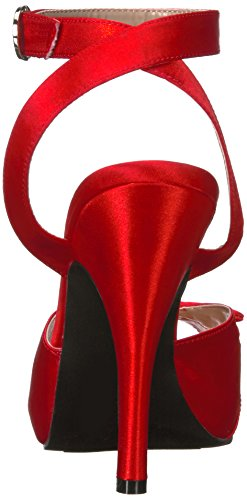 Pleaser Pink Label Eve-01 - Plataforma Mujer Red (Red Satin)
