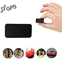 Hangang GPS,Mini GPS Car Tracker Anti Thief Real Time GPS Tracker Portable GPS Tracking Anti Loss GPS Locator Long Standby Time 200h for Purse Bag Wallet Bags Kids for iOS and Andriod