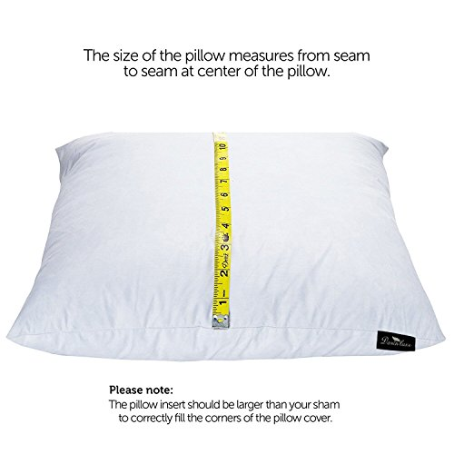 Set of 2 Premium 100/% Down Sleeping Pillows Made in USA ComfyDown