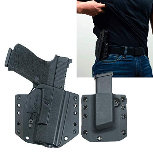 Bravo Concealment: Glock 19, 23, 32, 19X, 45 (Gen 3-5) OWB Gun Holster + Free Mag Pouch