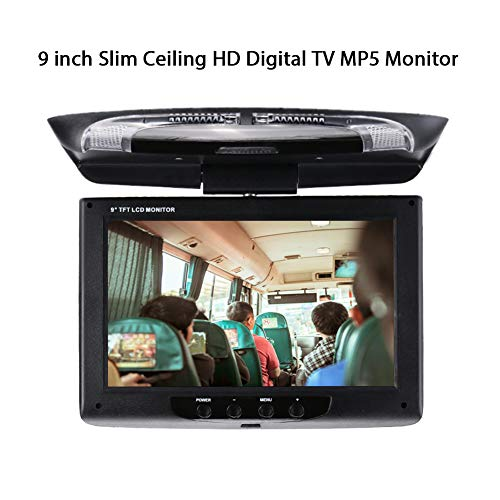 OYJJ Car Monitor Car DVD Monitor Portable 9 Inch TFT-LCD Screen Flip Down Roof Mount Monitor Multimedia Video Display ()