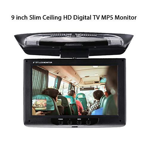 OYJJ Car Monitor Car DVD Monitor Portable 9 Inch TFT-LCD Screen Flip Down Roof Mount Monitor Multimedia Video Display ()