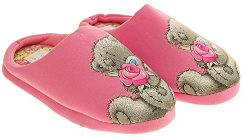 Womens 'Me To You' Bear Textile Mule Slippers Pink YFKIrb