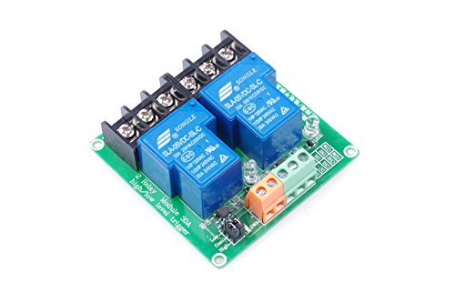 2-Channel Relay Module High/Low Level Triggering Optocoupler Isolation Load 30A DC 30V/AC 250V for PLC Automation Control, Industrial System Control, Arduino (DC 05V)