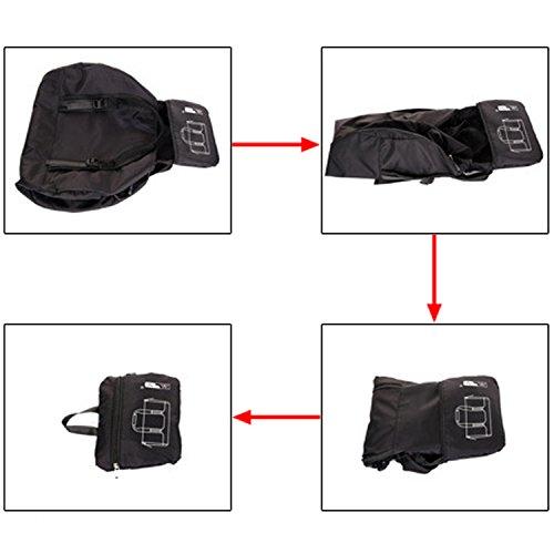 EcoCity Ultra-light Ripstop Packable Sports Duffels Foldable Travel Bags MB0102B1 (Black, 35L(Large))