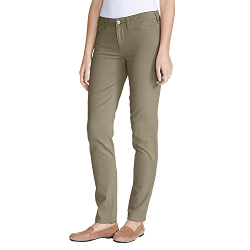 Eddie Bauer Women's Elysian Twill Slim Straight Jeans - Slightly Curvy, Lt Khaki