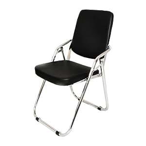 Amazon Com Yi Hai Folding Chair Thick Padded Metal Black