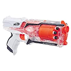 Fire 6 darts in a row from the quick-draw, fast-firing Nerf strong arm blaster! When speed and mobility are essential, bring this N-Strike elite toy blaster into Nerf battles. Take aim at targets with this blaster that shoots darts up to 90 f...