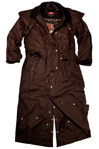 KakaduTraders Australia Original Oilskin Longrider 3-1 Coat From (Fold Over Collar Coat)