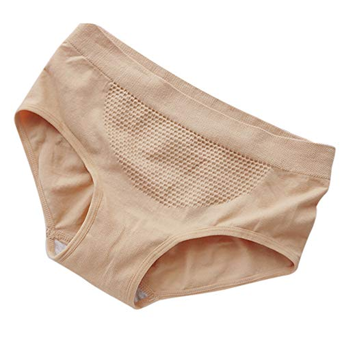 Toimothcn Women's Seamless Hi-Cut Panties Comfort Stretch Nylon Underwear (Khaki,Free)