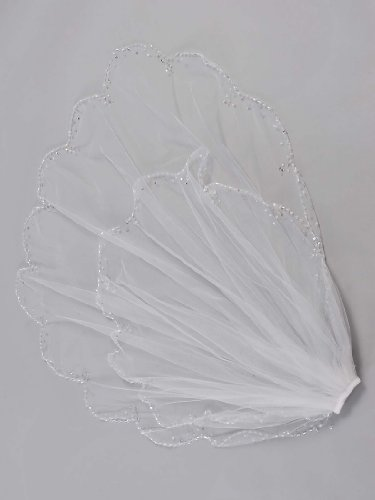Remedios Boutique 2 Tiers Elbow Length Wedding Bridal Veil with Comb