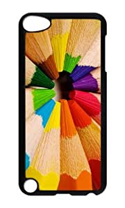 Ipod 5 Case,MOKSHOP Adorable Color Pencils Hard Case Protective Shell Cell Phone Cover For Ipod 5 - PC Black