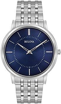 Bulova 40mm Classic Stainless Steel Bracelet Men's Watch
