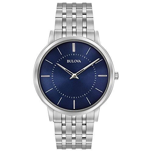 (Bulova Men's Quartz Stainless Steel Dress Watch, Color:Silver-Toned (Model: 96A188))