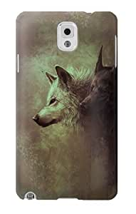 S0931 White Black Wolf Case Cover for Samsung Galaxy Note 3