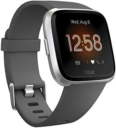 Fitbit Versa Lite 스마트 워치 CharcoalSilver Aluminum LS 크기 일본 정품 FB415SRGY-FRCJK / Fitbit Versa Lite Smart Watch CharcoalSilver Aluminum LS Size Japan Genuine FB415SRGY-FRCJK