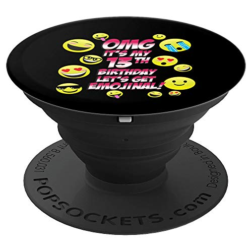 OMG It's My 13th Happy Birthday   13 year old Boy Girl Art - PopSockets Grip and Stand for Phones and Tablets (Best Cell Phone For 13 Year Old Boy)