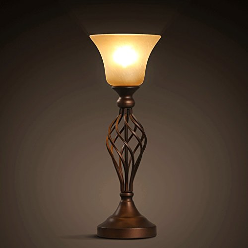 ZYN Table Lamp Retro Living Room Study Bedroom Bedroom Bedside Counter Lamp Nordic Glass Cover Desk Lamp