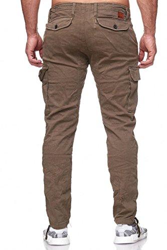 Verde Casual con Hombre Bridge Cargo Bolsas Pantalón Pantalones Red Stretch xzYwqx