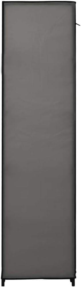 vidaXL Garde-Robe Pliable Penderie Armoire de Rangement Etag/ère /à V/êtements Meuble de Rangement Organisateur Chambre /à Coucher Chaussures Cr/ème Tissu