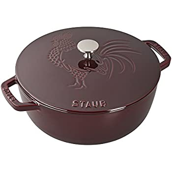 Staub Cast Iron 3.75-qt Essential French Oven Rooster - Grenadine