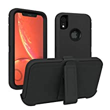 iPhone XR Case, ToughBox [Armor Series] [Shockproof] [Black] for Apple iPhone XR Case [Comes with Holster & Belt Clip] [Fits OtterBox Defender Series Belt Clip for XR Phone Cover]
