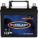 Everlast 12350DC-NB 12 Volt 35 Ah Deep Cycle SLA Battery with Nuts and Bolts