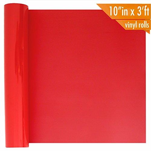 PU Heat Transfer Vinyl - Red HTV Iron On Vinyl Roll, 10