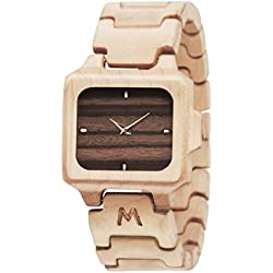 Wooden Watch for Men and Women - Sumba Natural Canadian Maple Wood Grain - Wrist Watches - Matoa by WÜ