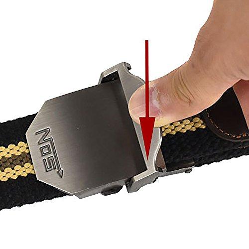treestar ajustable hombres ms lienzo Estudiante vaquero estilo deportes Cobra hebilla de cinturón aleación Casual Fashion cinturón de piel… 69QWfXxg
