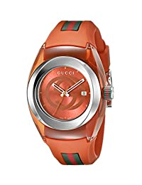 Gucci SYNC L YA137311 Stainless Steel Watch with Orange Band