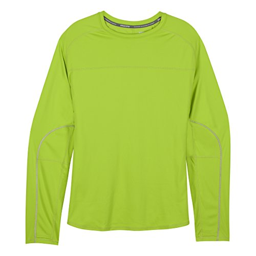 Saucony Men's Velocity Long Sleeve Top, X-Large, Chartreuse